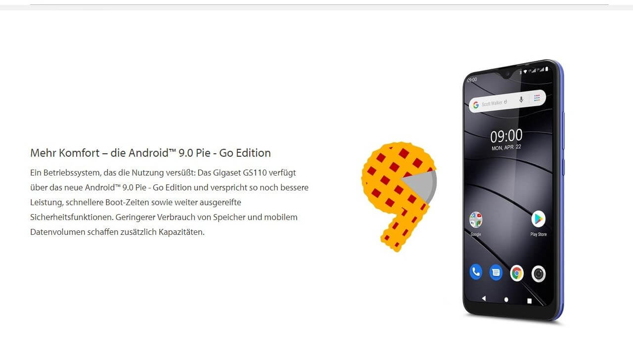 Gigaset GS110 Android 9 Go