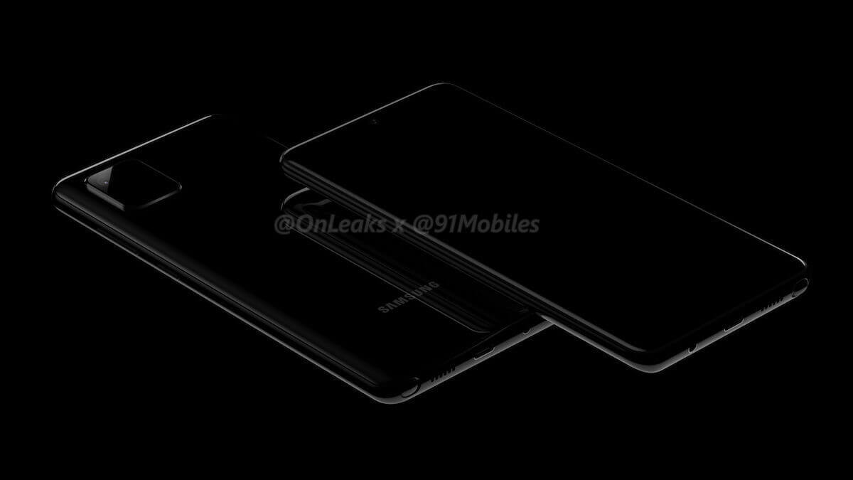 Samsung Galaxy Note 10 Lite Render
