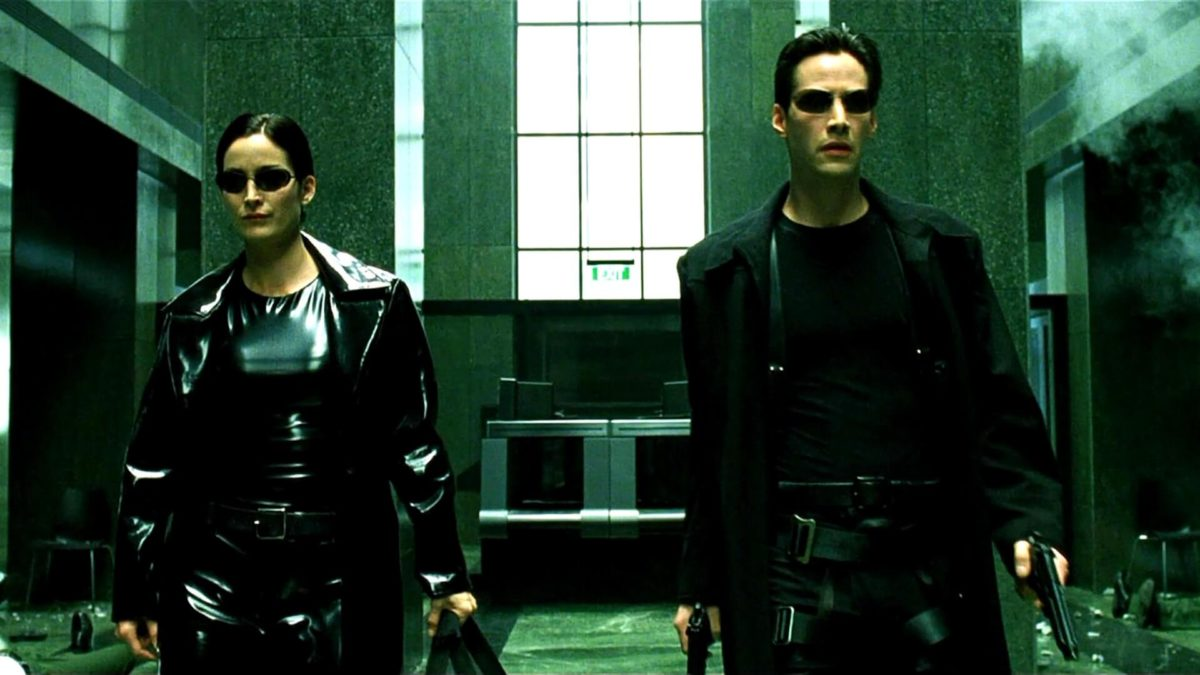 Keanu Reeves und Carrie Anne Moss in The Matrix