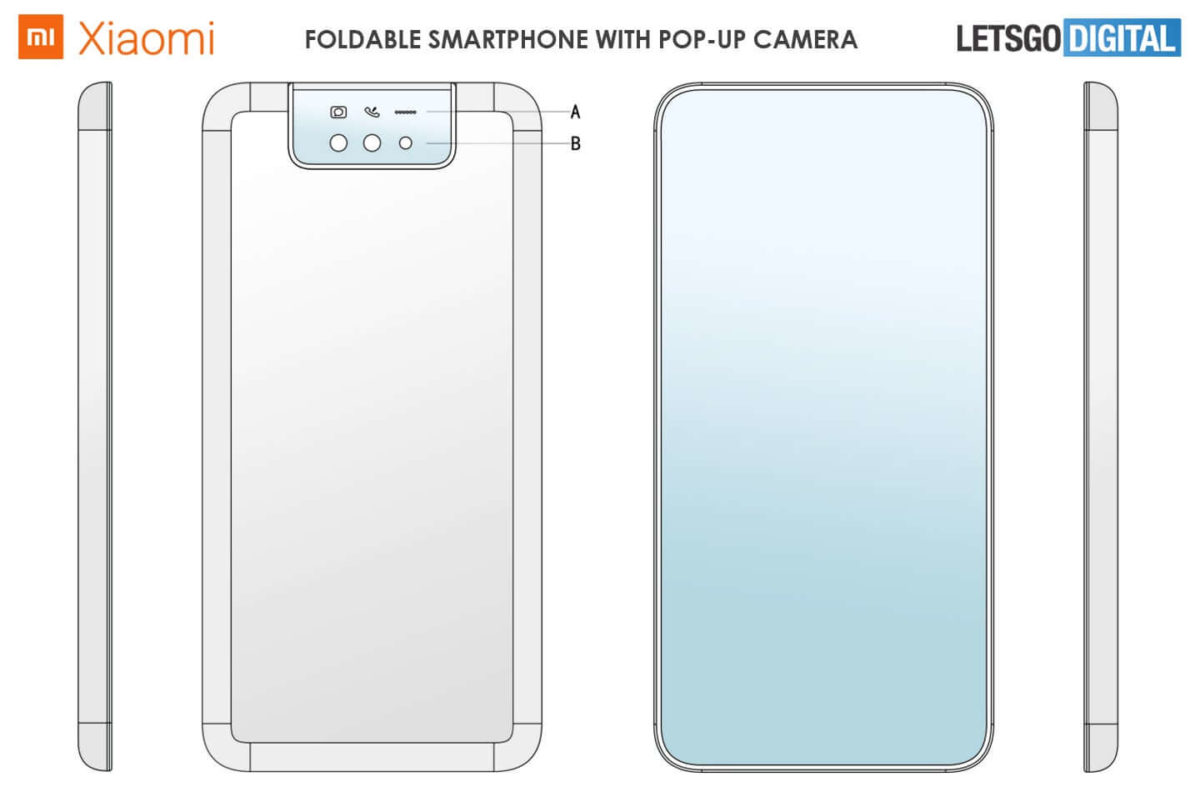 Xiaomi faltbares Clamshell-Smartphone Patent