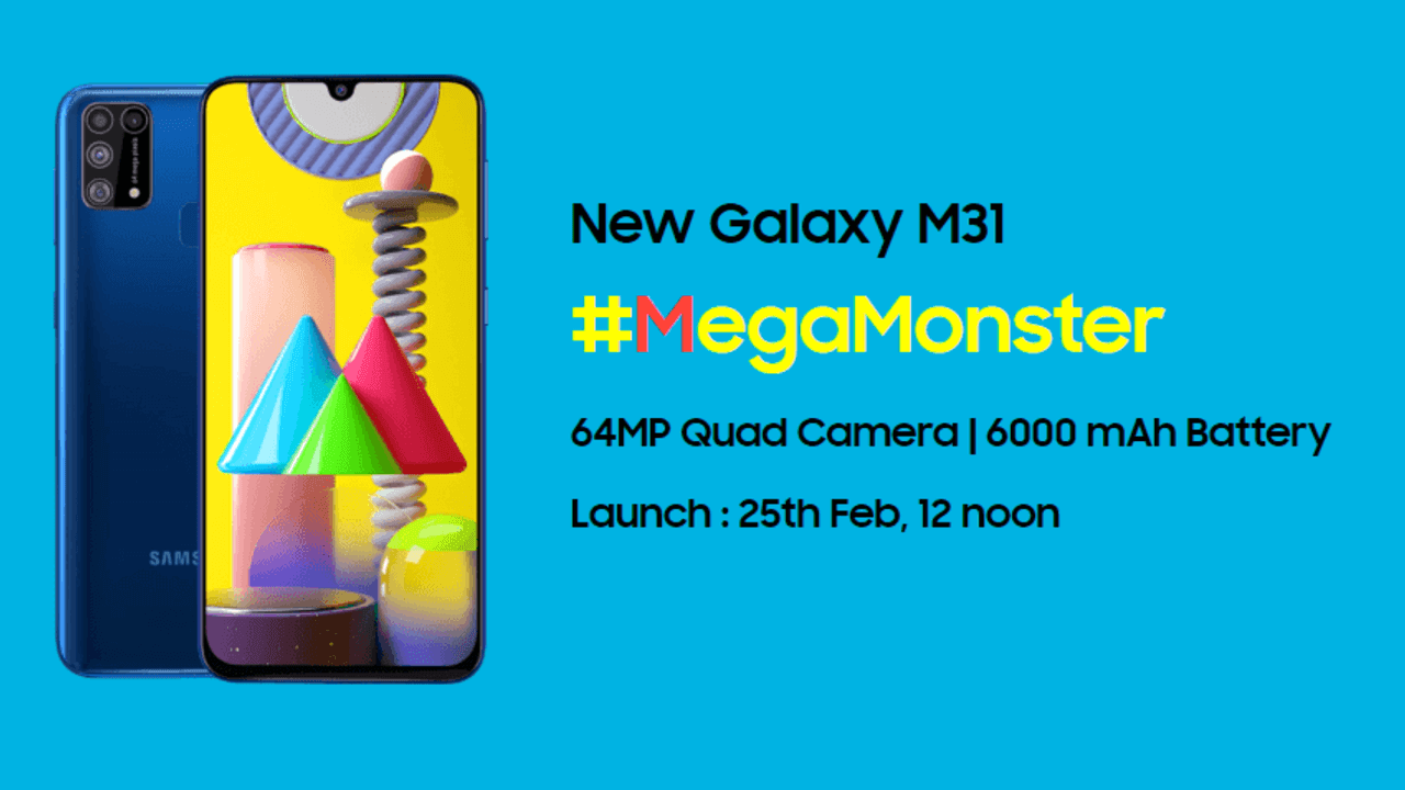Samsung Galaxy M31 launch