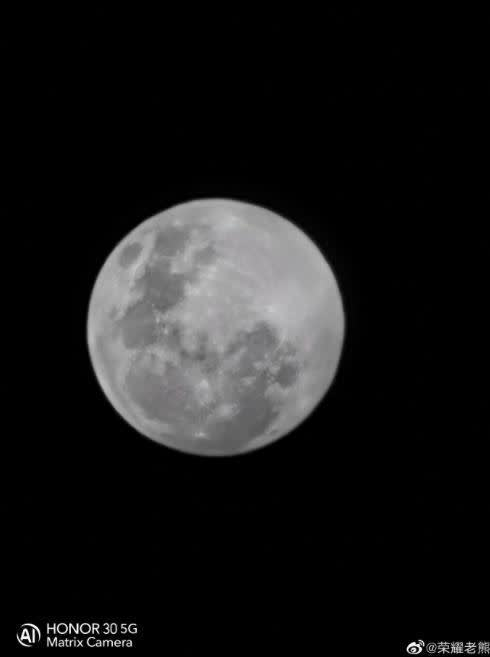 Honor 30 Super Moon Periscope Camera Sample