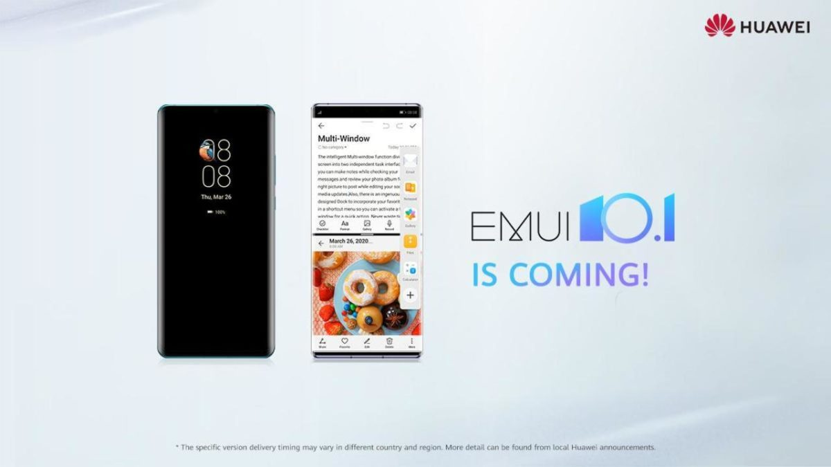 Huawei EMUI 10.1 is coming