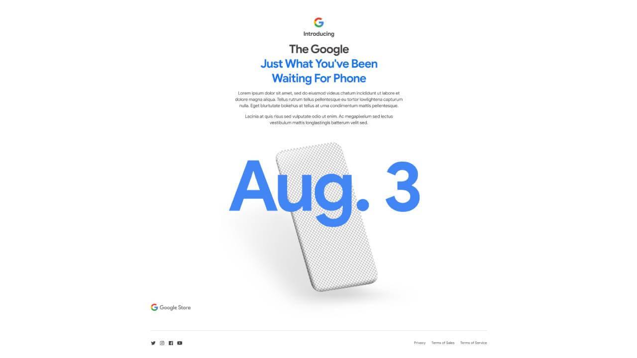 Google Pixel 4a Teaser