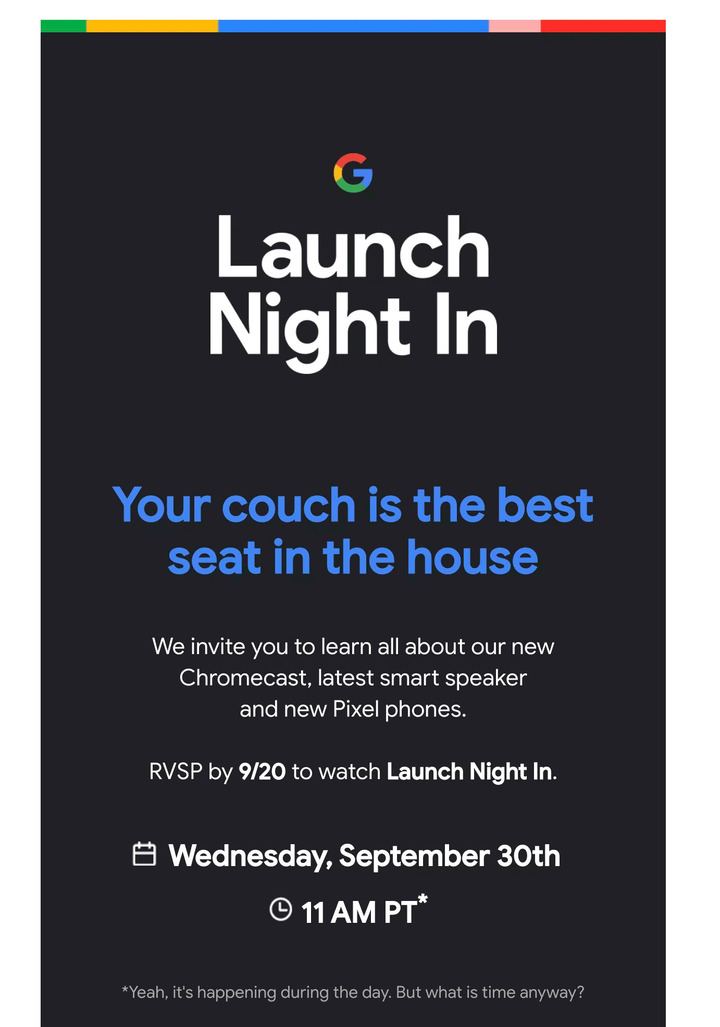 Official: Google Pixel 5 will be unveiled on September 30th