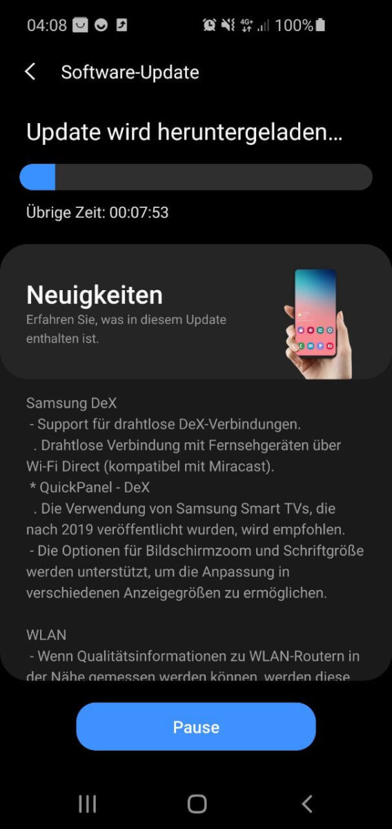 Samsung Galaxy S10 One UI 2.5 Update