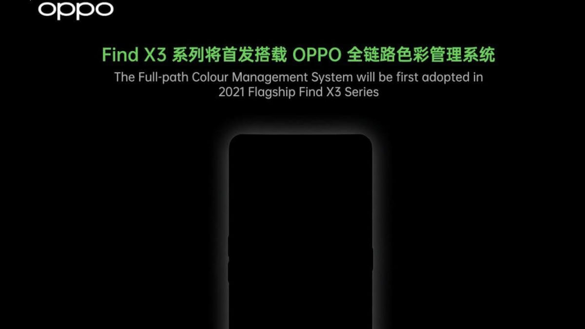 OPPO Find X3 full-patch colour management