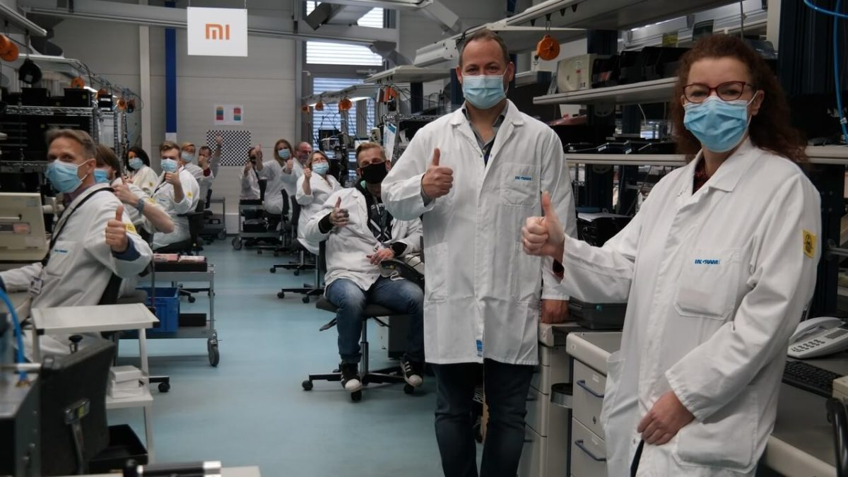 Flensburger Xiaomi-Techniker Team bei Ingram Micro