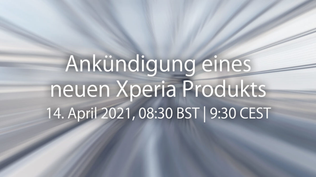 Sony Launch Event am 14. April
